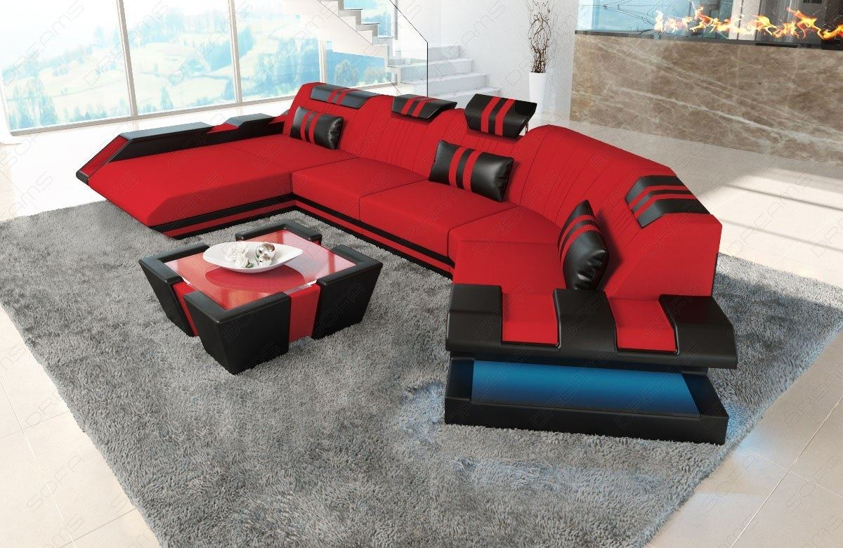 Sofa Dreams Finanzierung Detalhes Sobre Sofa Sectional Fabric New Jersey C Shape Corner Couch Living Room Led Lighting
