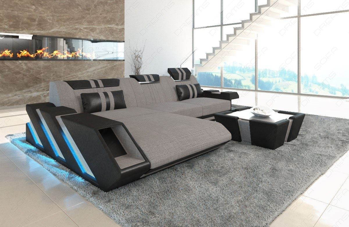 Sofa Dreams Finanzierung Detalles Acerca De Fabric Sectional Sofa New Jersey L Shape Corner Couch Living Room Led Lights