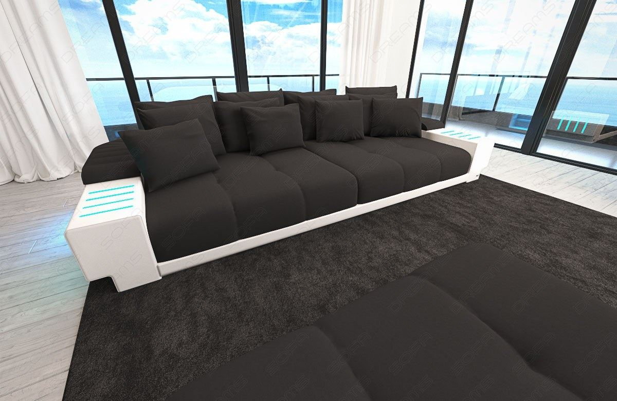 Big Sofa Xxl Schwarz Big Sofa Weiß Xxl Big Sofa Miami Megasofa With Lighting Bigsofa
