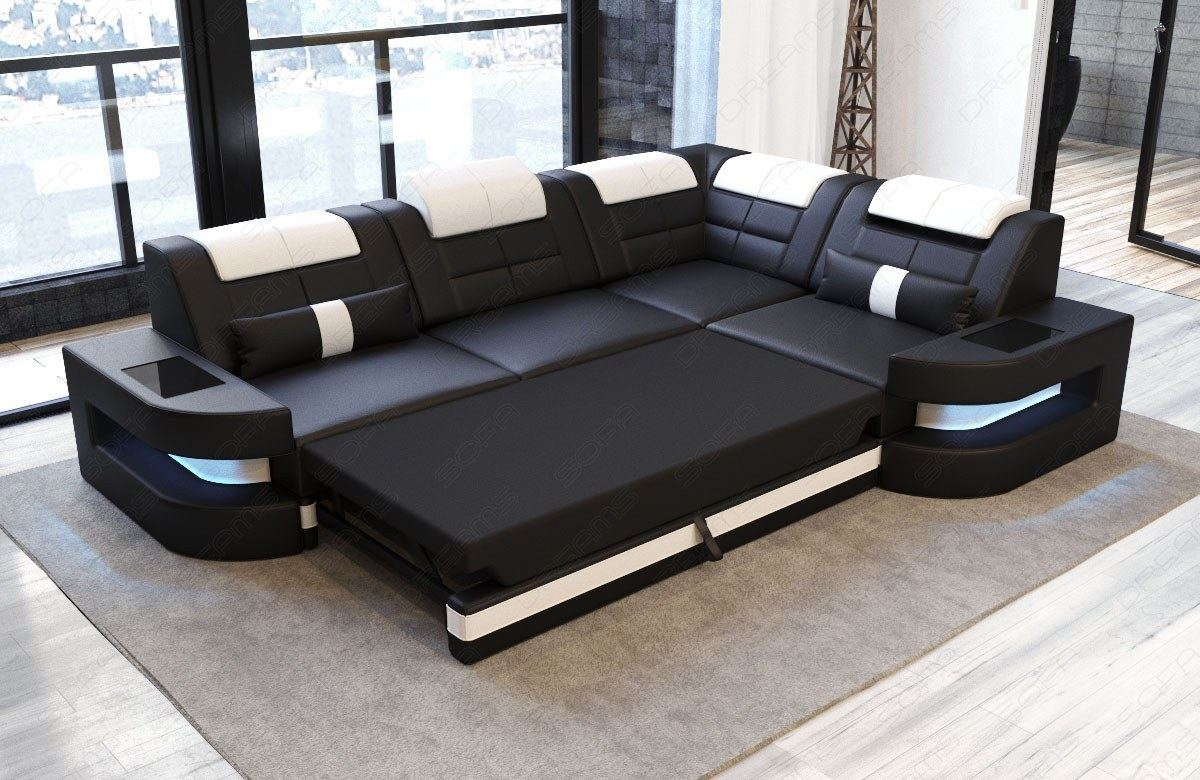 Sofa Funktion Detalles Acerca De Design Couch Fabric Sofa Denver L Shape Modern Luxury With Led Lighting Headrest