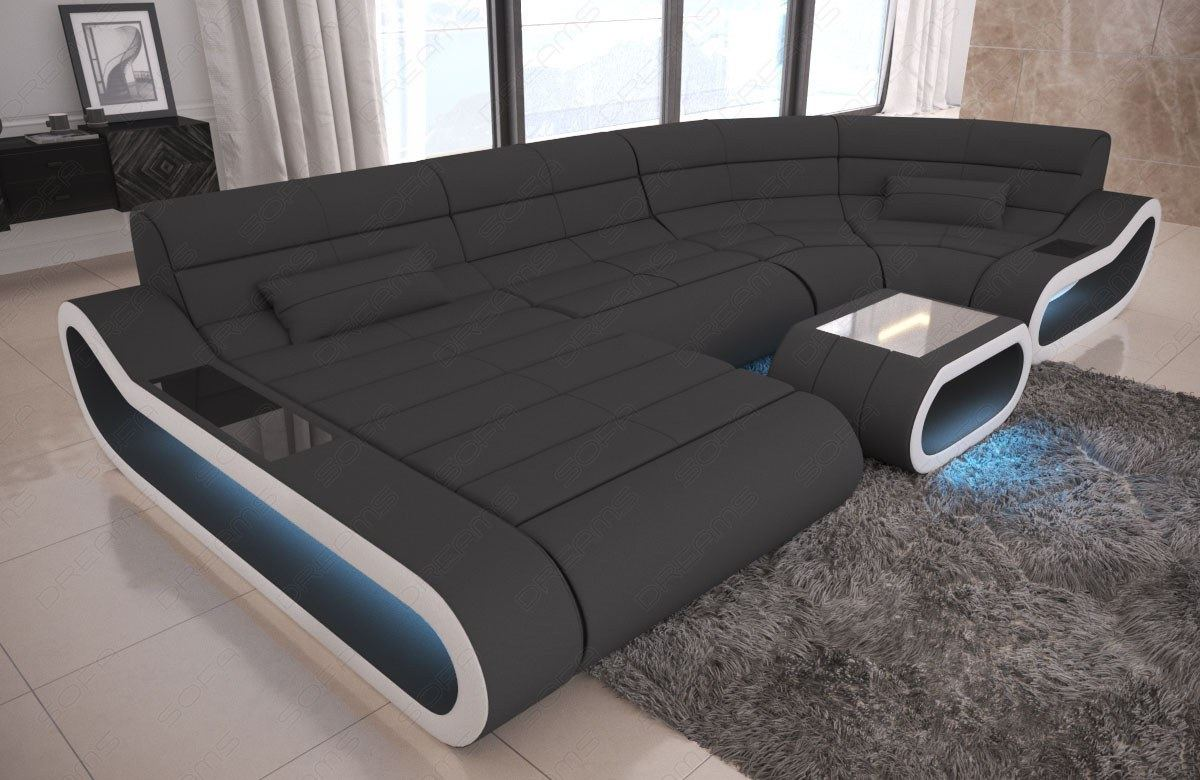 Couch U Form Details About Fabric Big Concept U Shape Sectional Luxury Sofa Design Couch Led Light