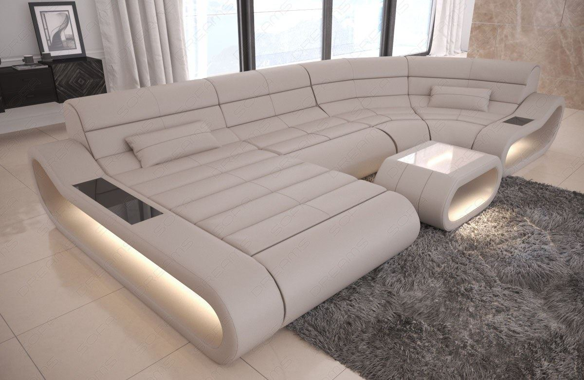 Luxury Sectional Sofa Concept U Shape Design Couch Big Led Lights Ottoman Ebay