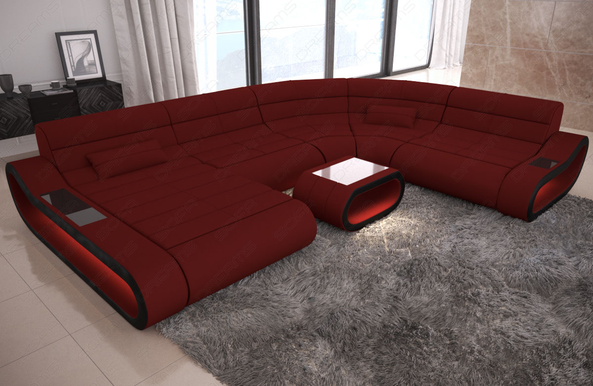 Couch Rot Details About Fabric Sectional Sofa Designer Couch Concept Xl Shape Recamiere Led Lights