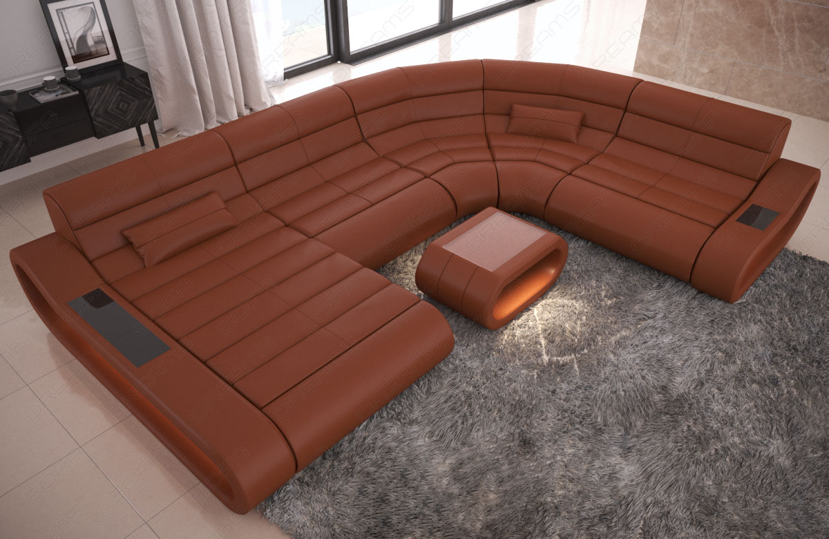 Xxl Sofa Design Details About Luxury Sectional Sofa Concept Xl Design Couch Big Led Lights Ottoman