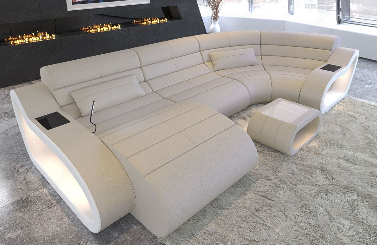 Corner Sofa Leather Pads Couch Xxl Big Interior Design Berlin4 For Sale Online Ebay