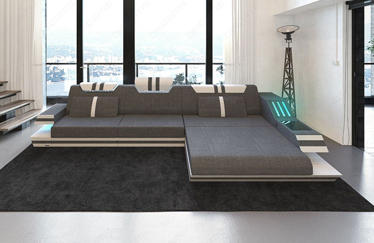 Couch Mit Led Couch Sofa Big Sectional Fabric Hollywood L Shape Corner Designsofa Led Light