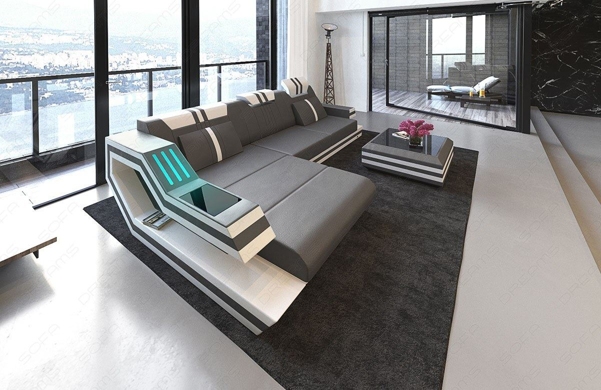Sofa Grau Online Leather Sectional Sofa Hollywood L Shape Corner Led Lights Designer Couch