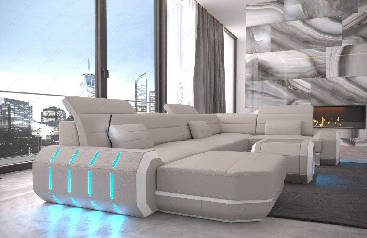 Sectional Sofa With Led Lights Sectional Sofa Leather Roma U Shape Big Corner Sofa Couch Air Platform Modular Sectional Sofa Led Lights By Rausch Design Sectional Sofa Bellagio Led U Shape