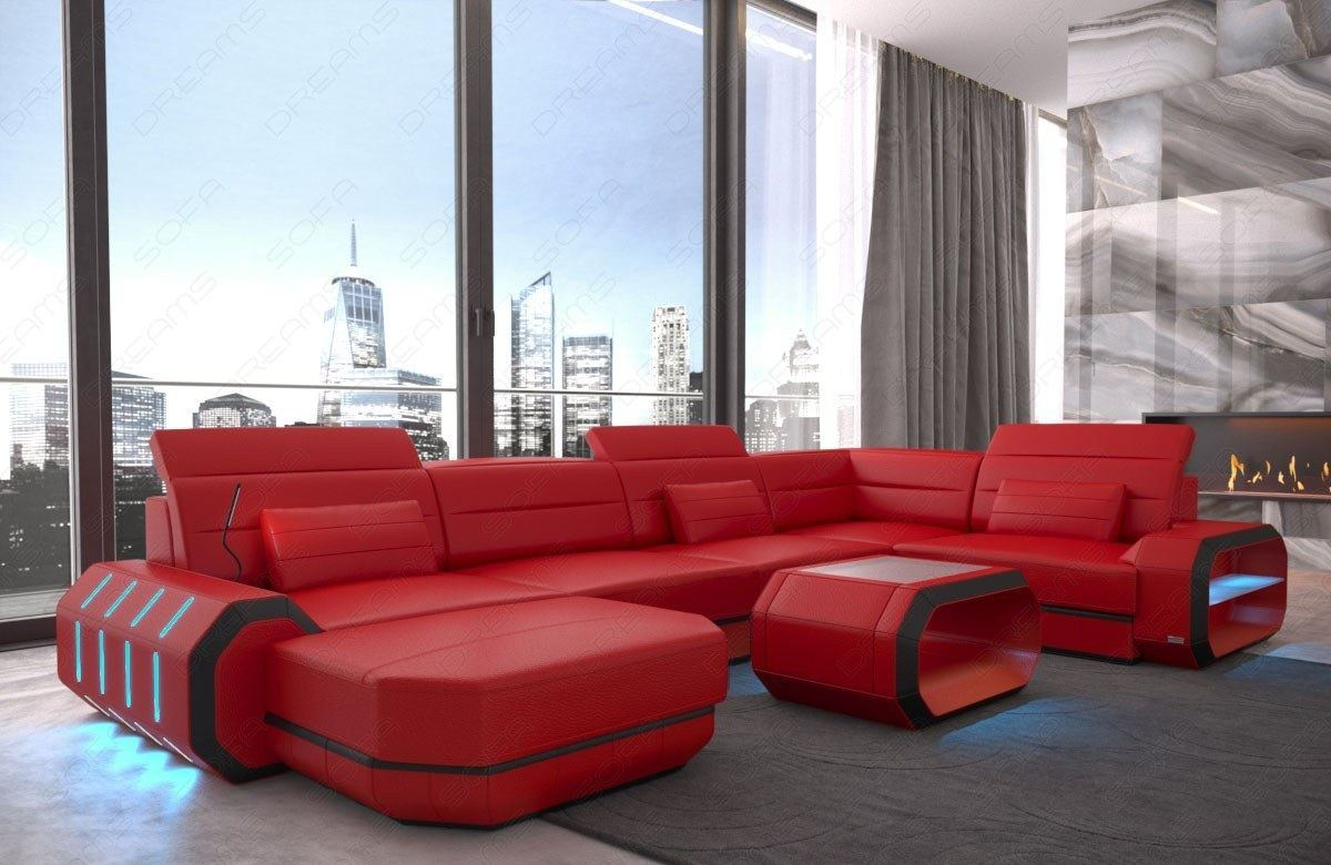Sofa Relax Con Usb Detalles Acerca De Sectional Genuine Leather Sofa Couch Brooklyn U Shape With Chaise Led Lights Usb