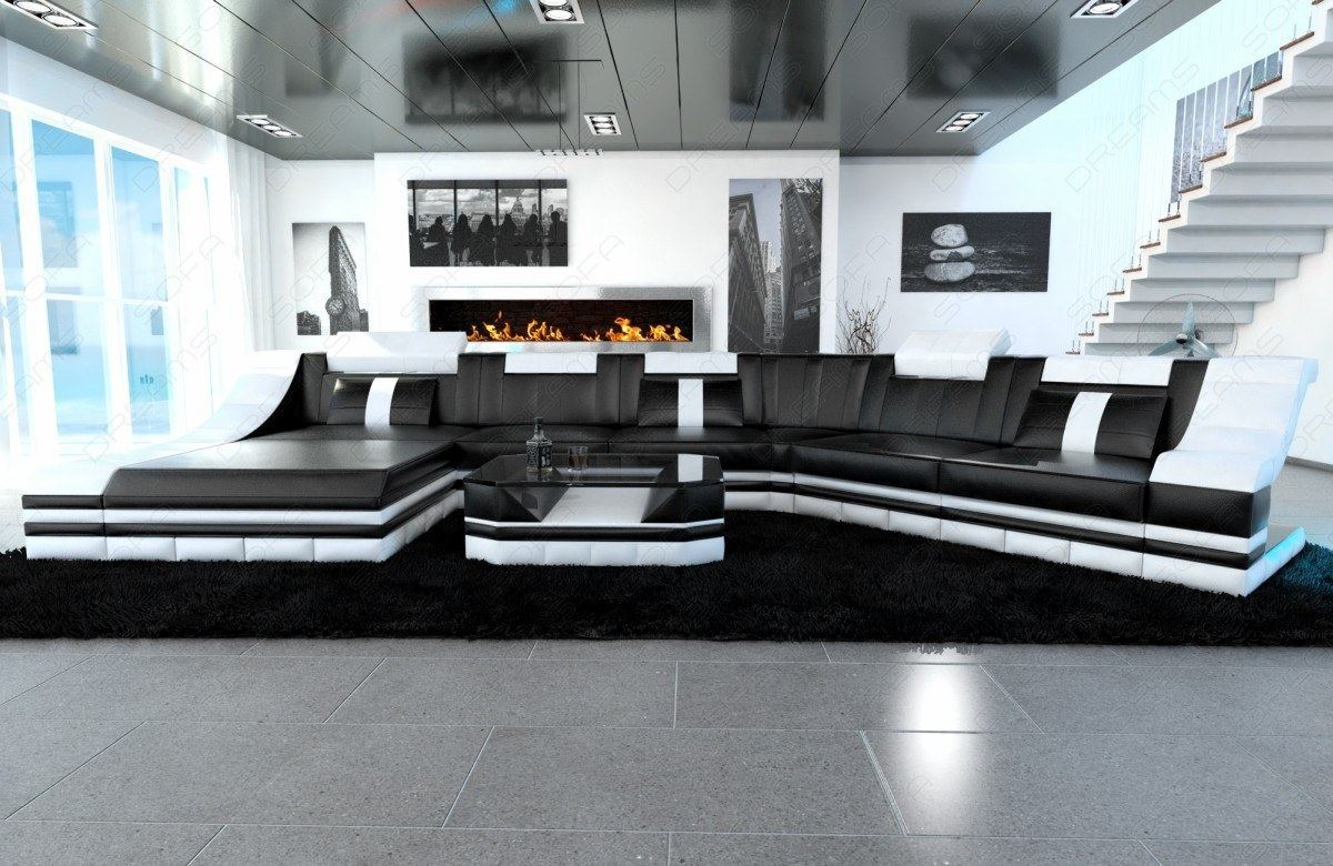 Interio Sofa Qualität Leather Couch Interior Design Turino Cl With Led Lighting