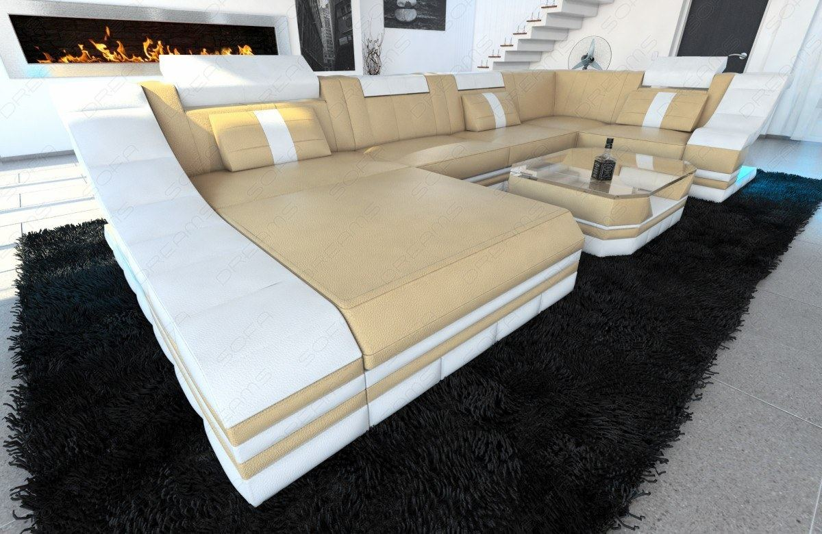 Sofa Dreams Betten Details About Luxury Sectional Sofa New York U Shape With Led Genuine Leather Design Sofa