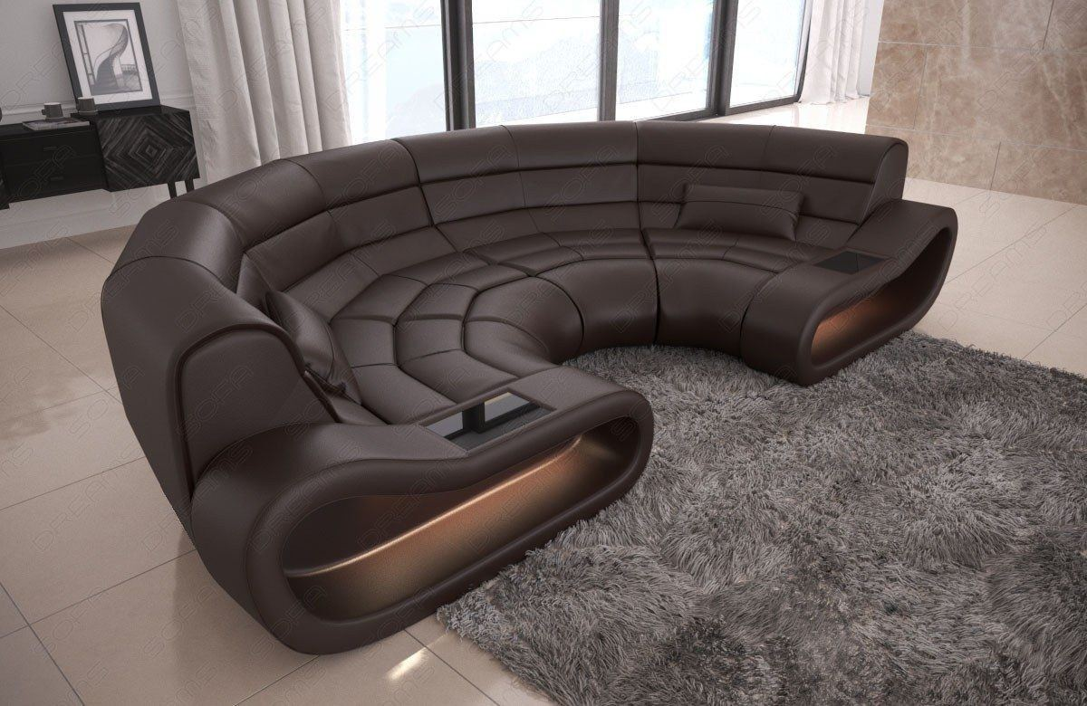 Couchgarnituren In Leder Big Sofa Concept Leder Dunkelbraun