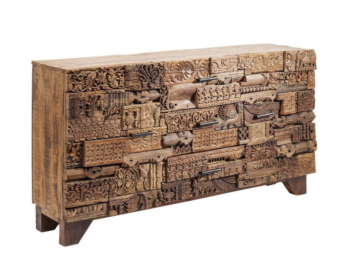 Sideboard Massivholz Sideboard Shanti Surprise Puzzle Nature