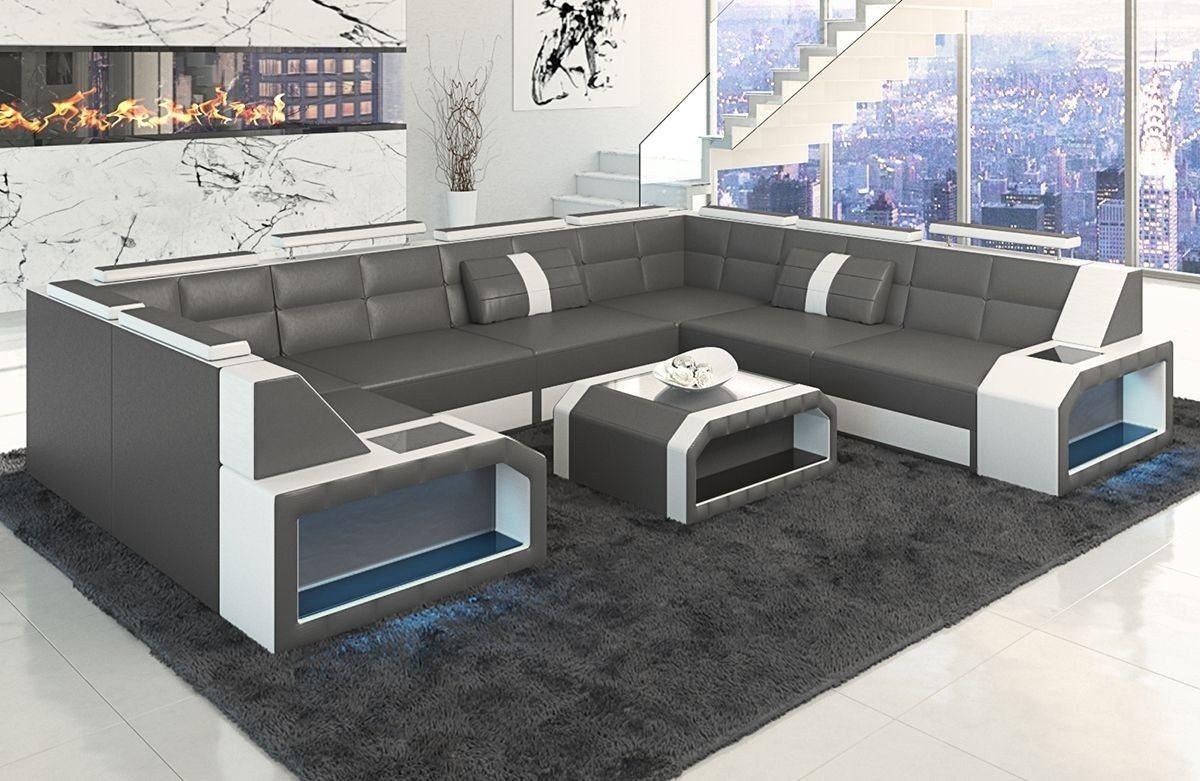 Sofa Grau U Form Big Sofa L Form Weiss Grau Links Modell Maximus