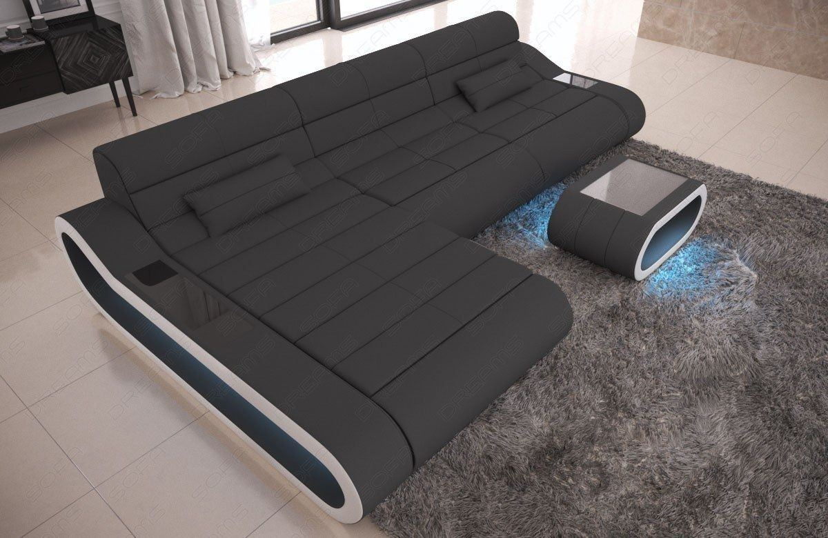 Couch Stoff Stoffsofa Concept L Form Lang