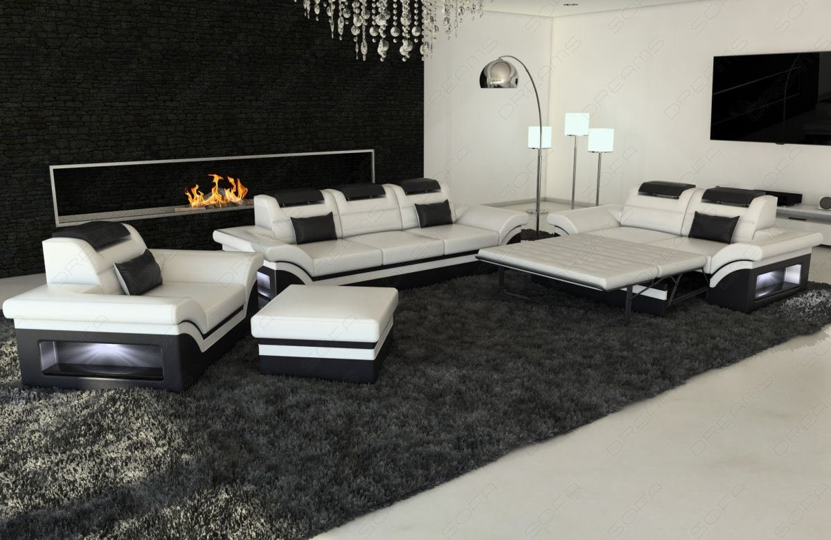 1er Sofa Sofas And Ledersofa Sofagarnitur 3er 2er 1er Monza Led