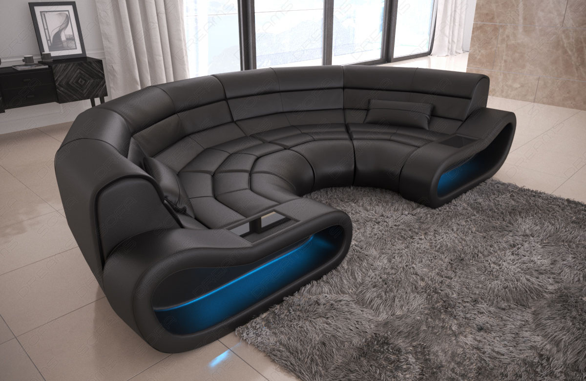 Big Sofa Kolonialstil Sofa Koncept Læder