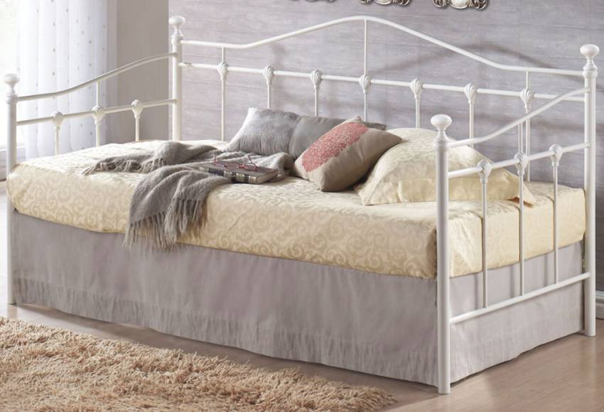 Single Day Bed Birlea Furniture - Torino Single Daybed - Cream Or Black