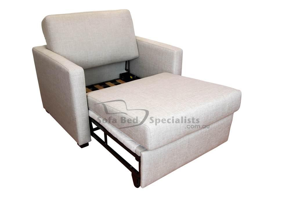 Chair Sofabed With Timber Slats Sofa Bed Specialists - Single Sofa Bed Chair