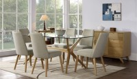 Milano glass top dining table - Sofa Concept