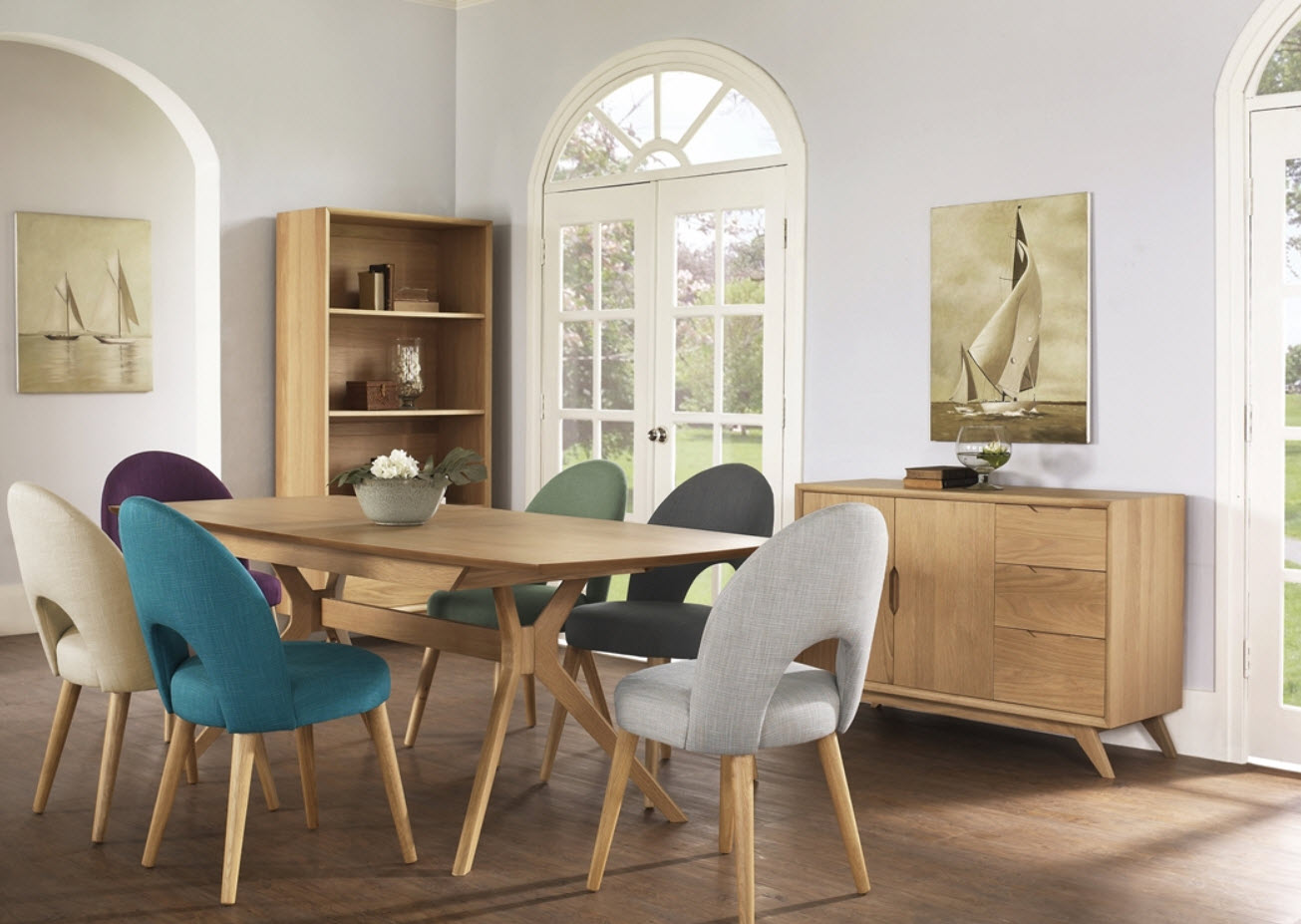 Milano 7 Piece Dining Suite With Stockholm Upholstered