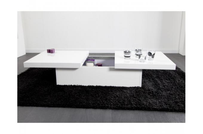 Chaise Blanche Salon De Jardin Table Basse Coulissante Blanche Madrid Design Sur Sofactory