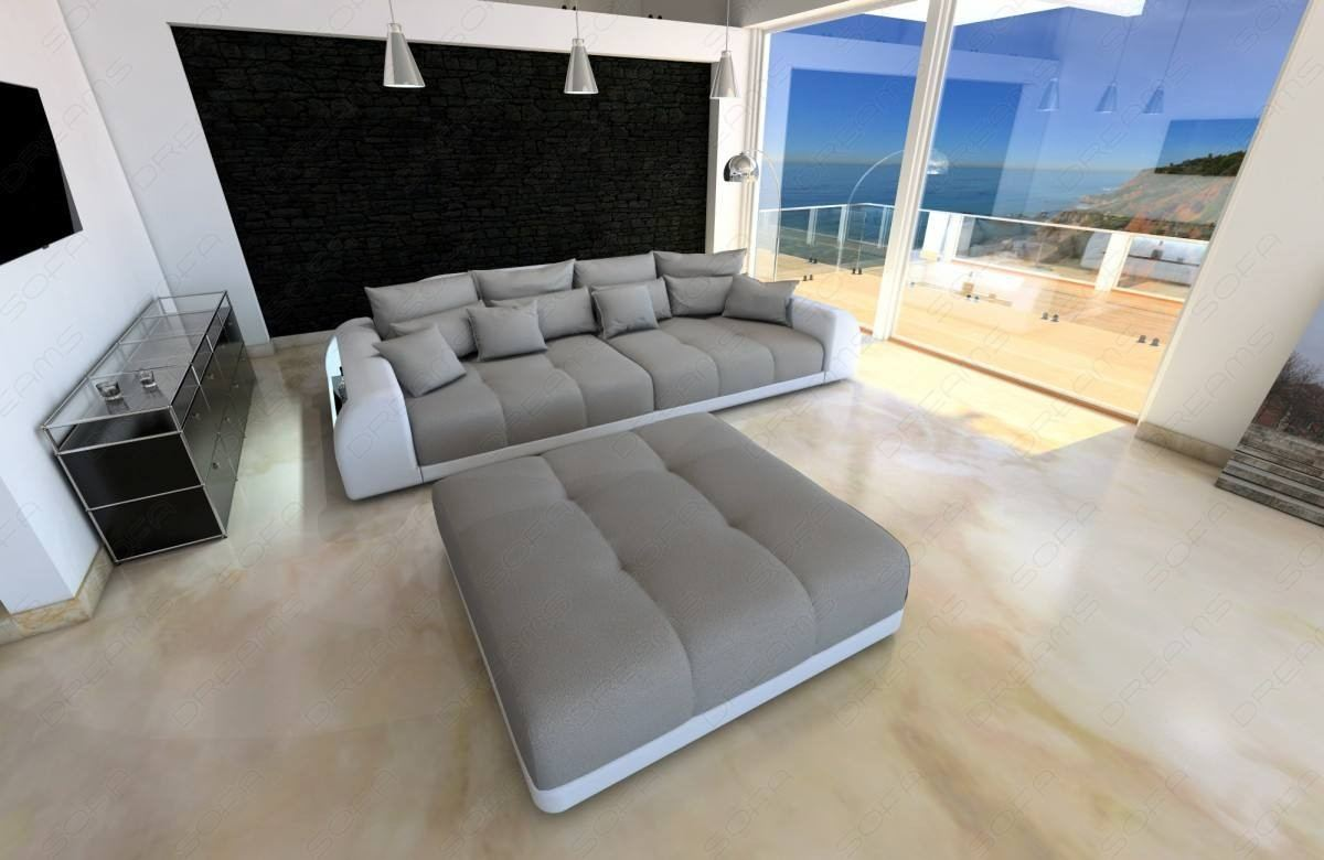 Big Sofa Xxl Fabric Big Sofa Miami With Led