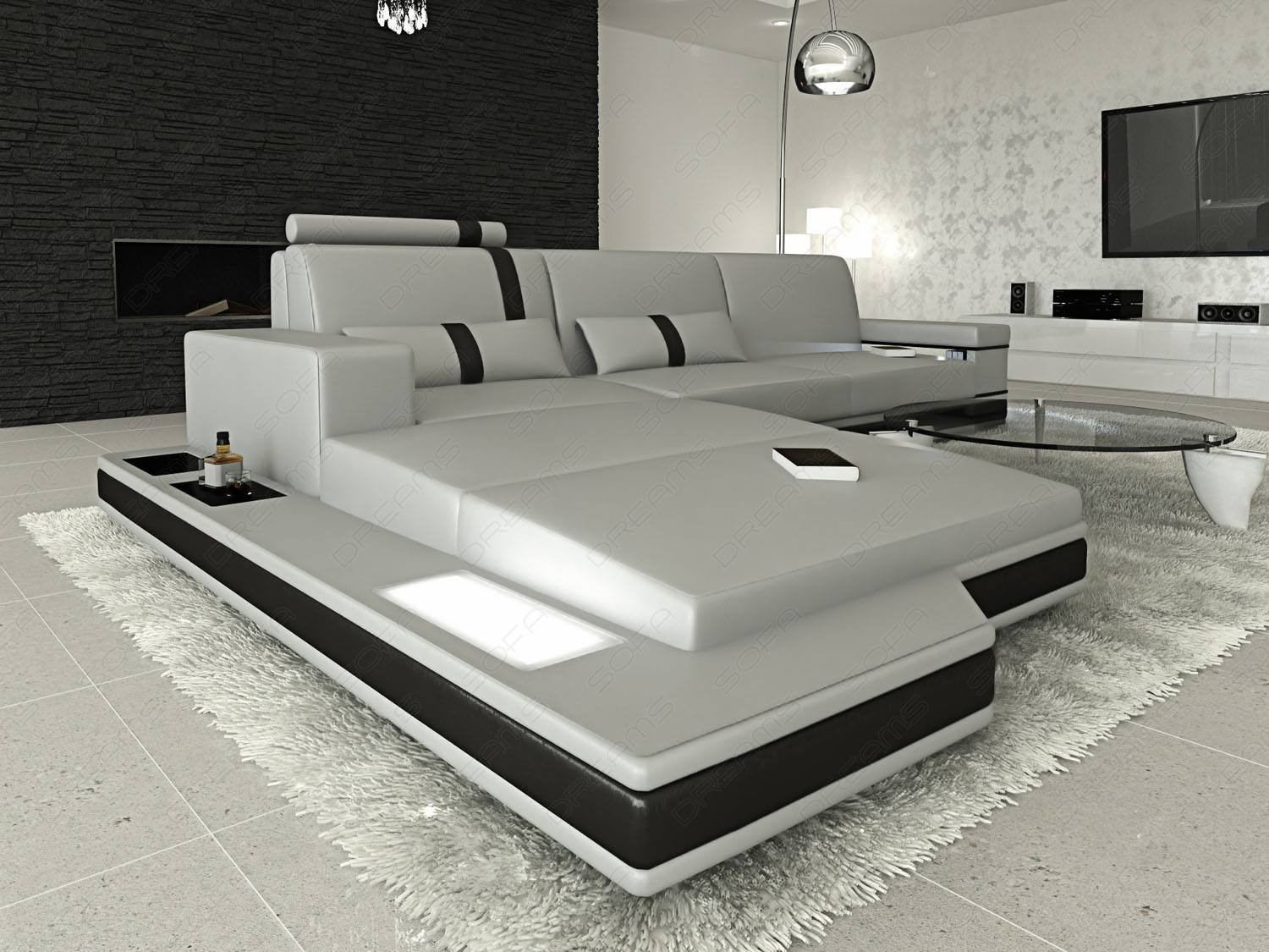 Sofa Couch Grau Designer Design L Shaped Sofa Los Angeles With Lights