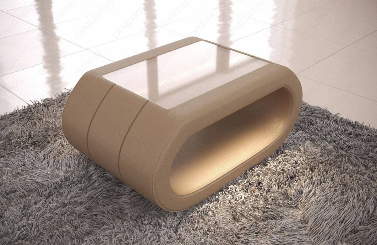 Couchtisch Plastik Leather Coffee Table Concept With Led Lights
