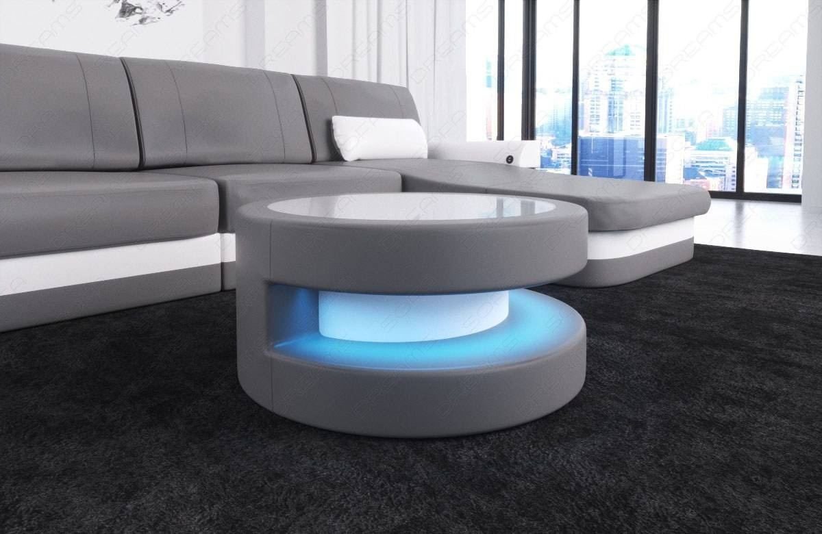 Design Couchtisch Led Leather Coffee Table Tampa With Led