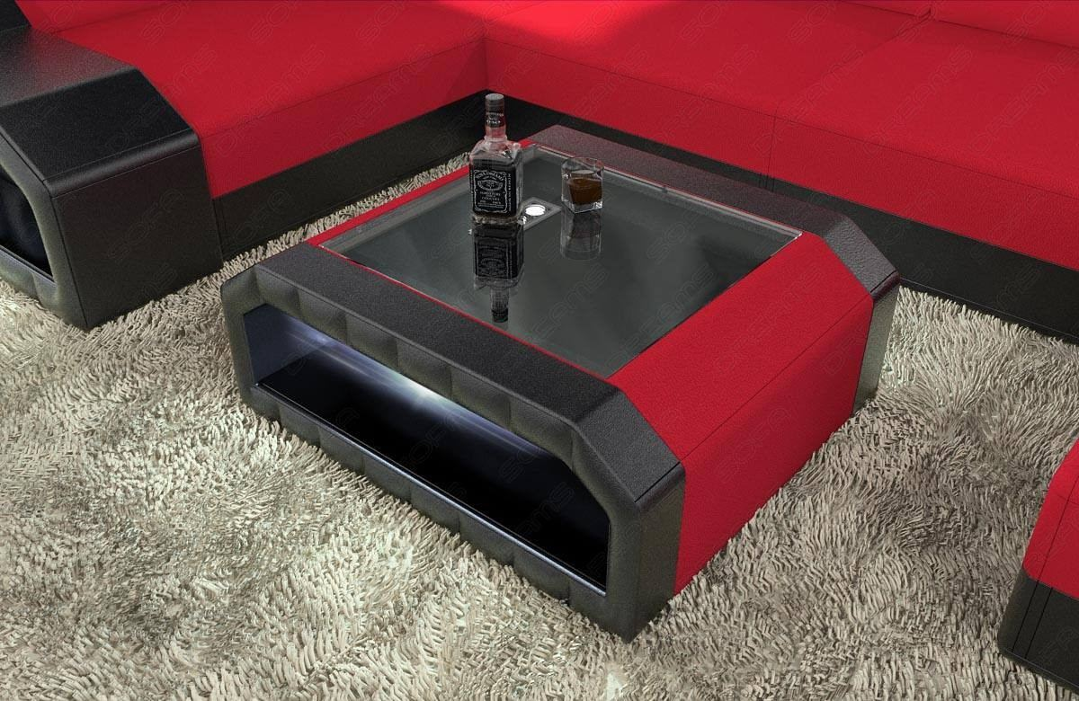 Couchtisch Led Fabric Mix Coffee Table Houston With Led
