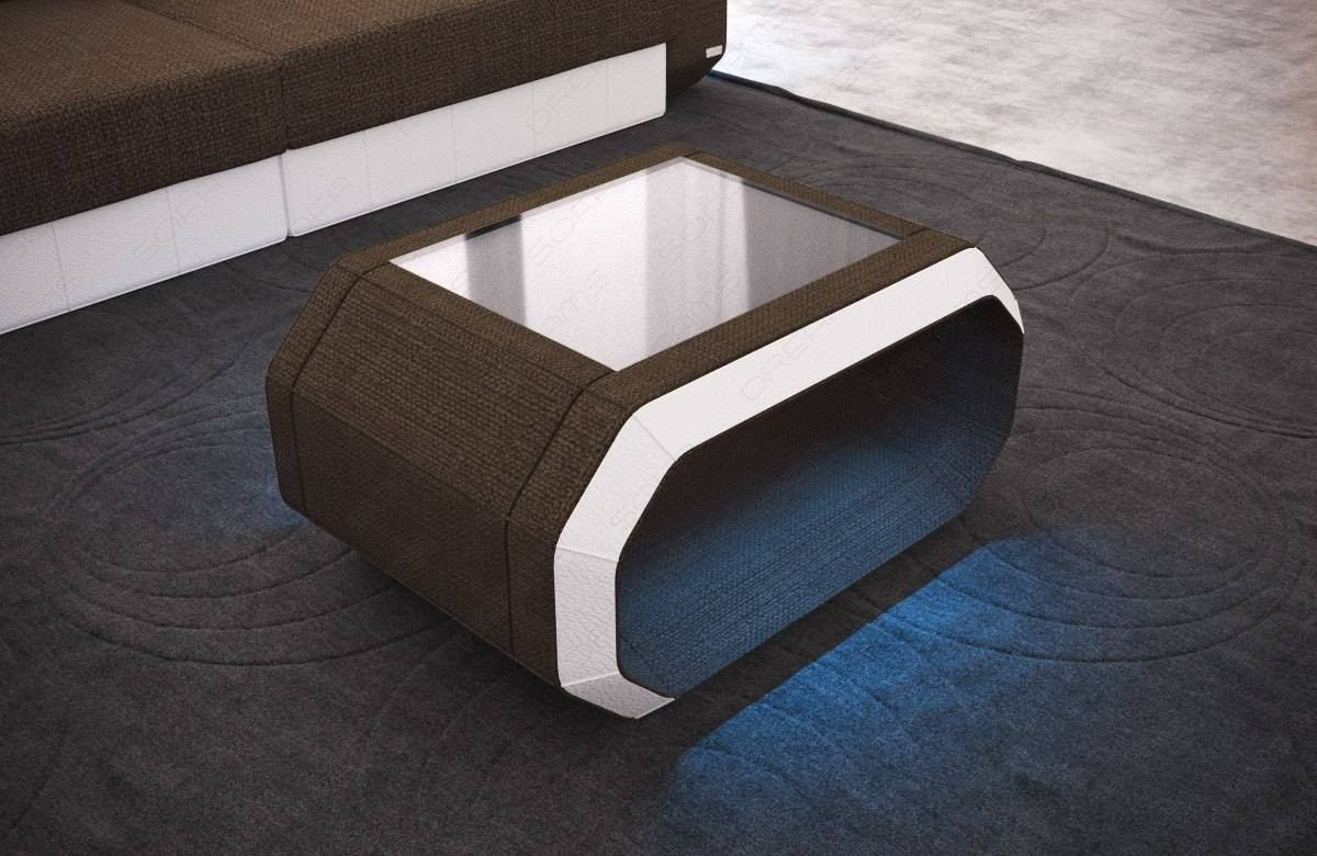 Design Couchtisch Led Fabric Coffee Table Brooklyn With Led