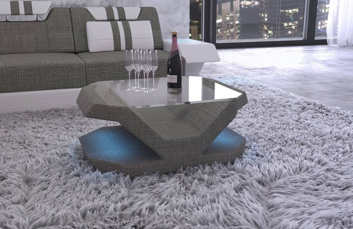 Couchtisch Fabric Fabric Coffee Table Beverly Hills With Led