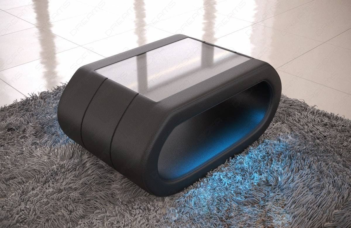 Design Couchtisch Led Leather Coffee Table Concept With Led Lights