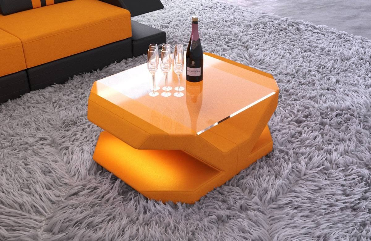Glastisch Led Fabric Coffee Table Beverly Hills With Led