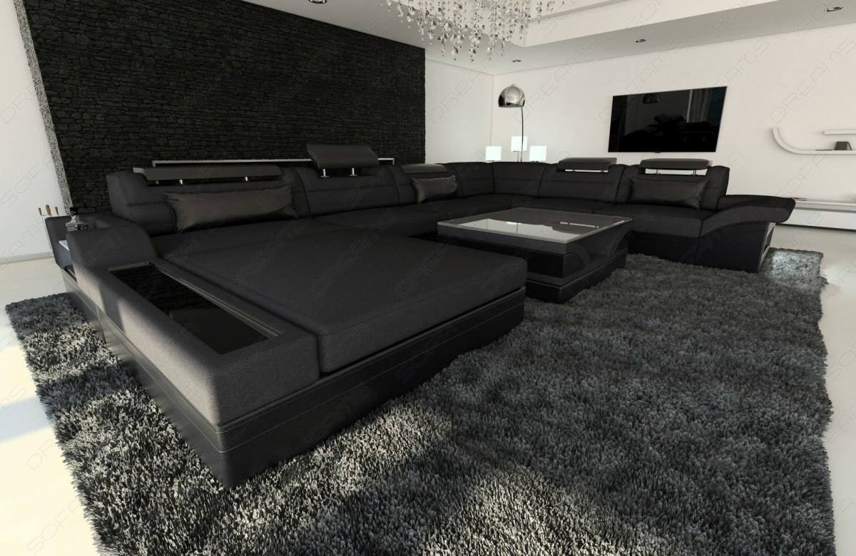 Big Sofa Xxl Schwarz Big Fabric Sectional Sofa Orlando Xl Led