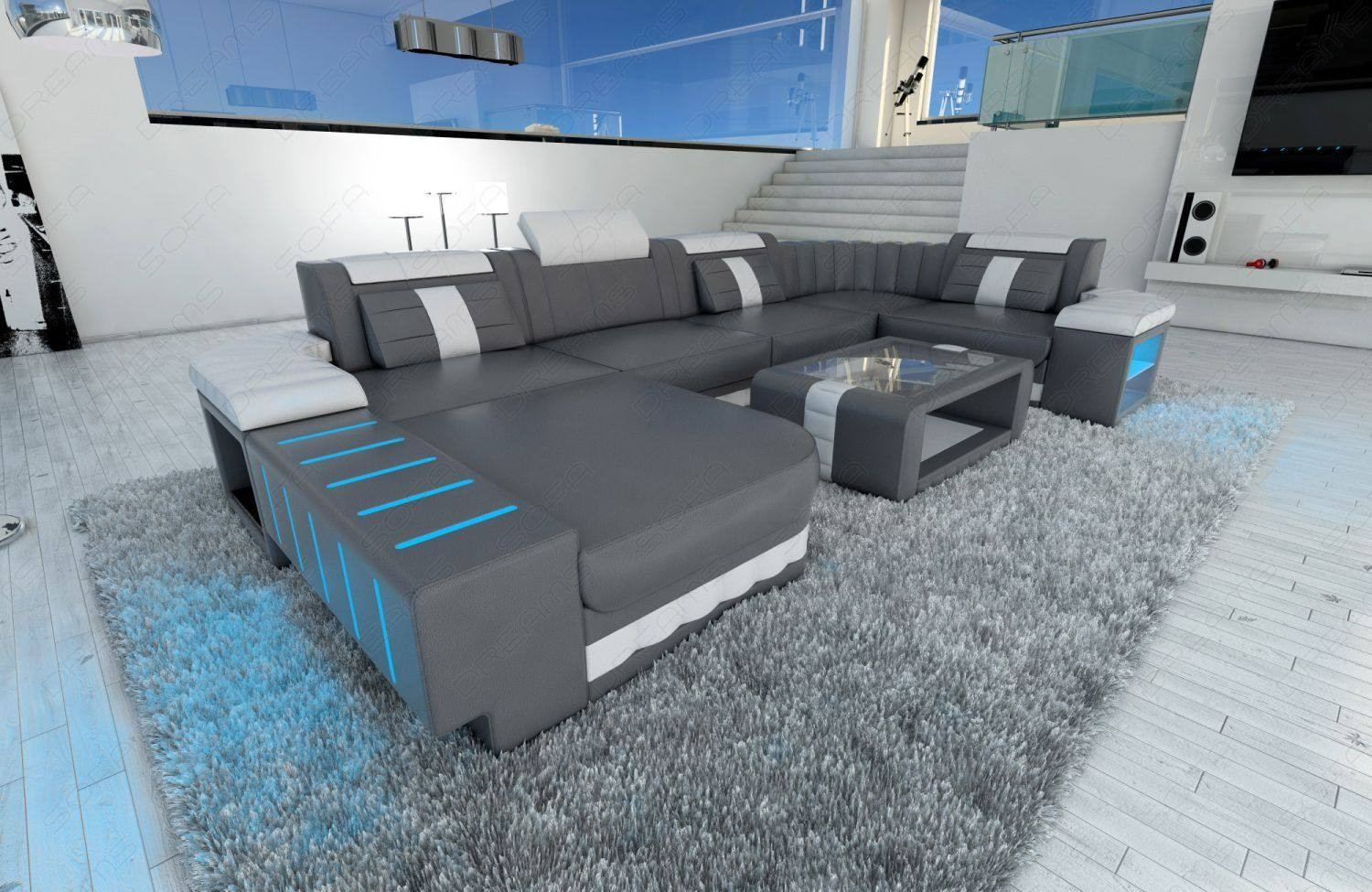 Sofa Grau Design Sectional Sofa Boston Led U Shape