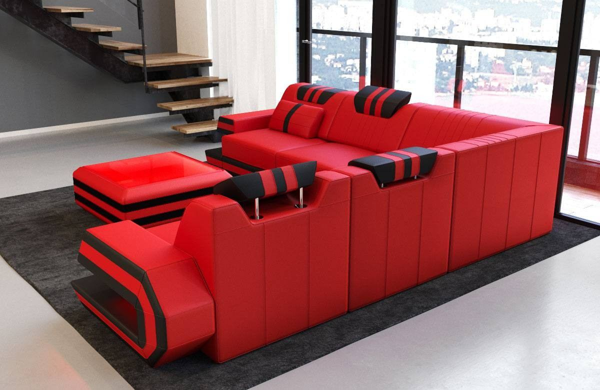Design Couch Design Sectional Sofa San Antonio L Shape With Led Lights
