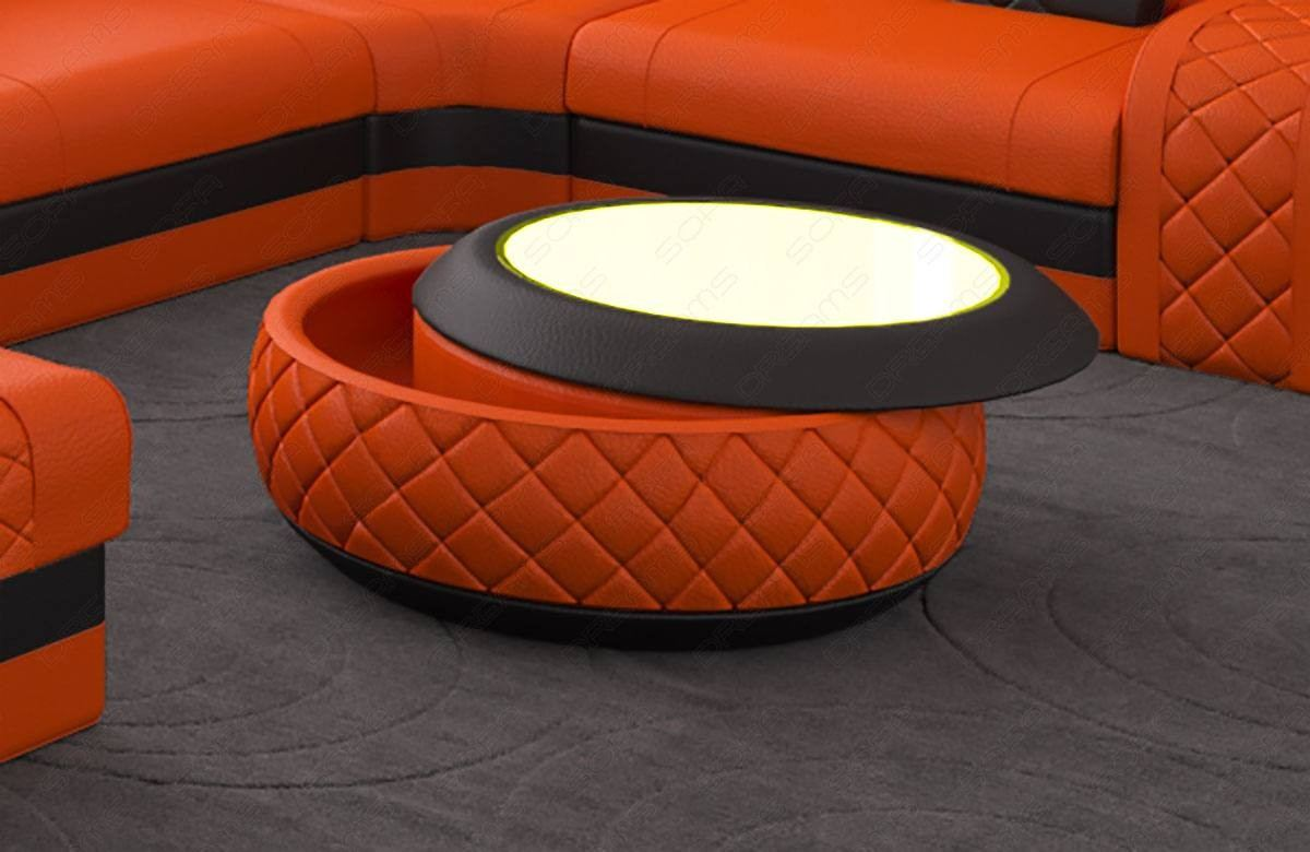 Couchtisch Orange Coffee Table Charlotte Leather