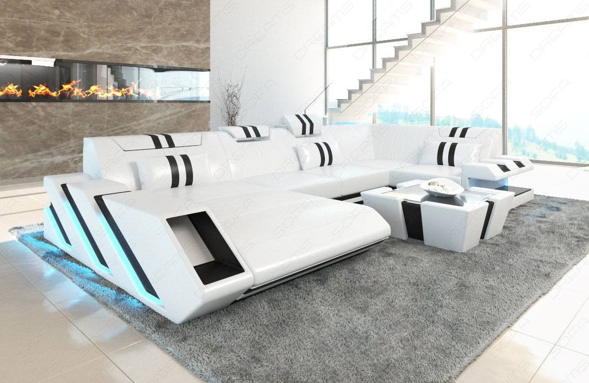 New Style Sofa Set Design Leather Sofa New Jersey U With Led