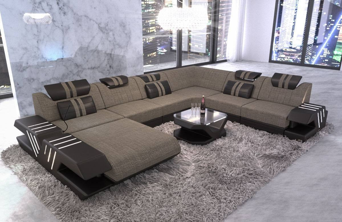 Couch Grau Upholstery Sectional Sofa Beverly Hills Xl