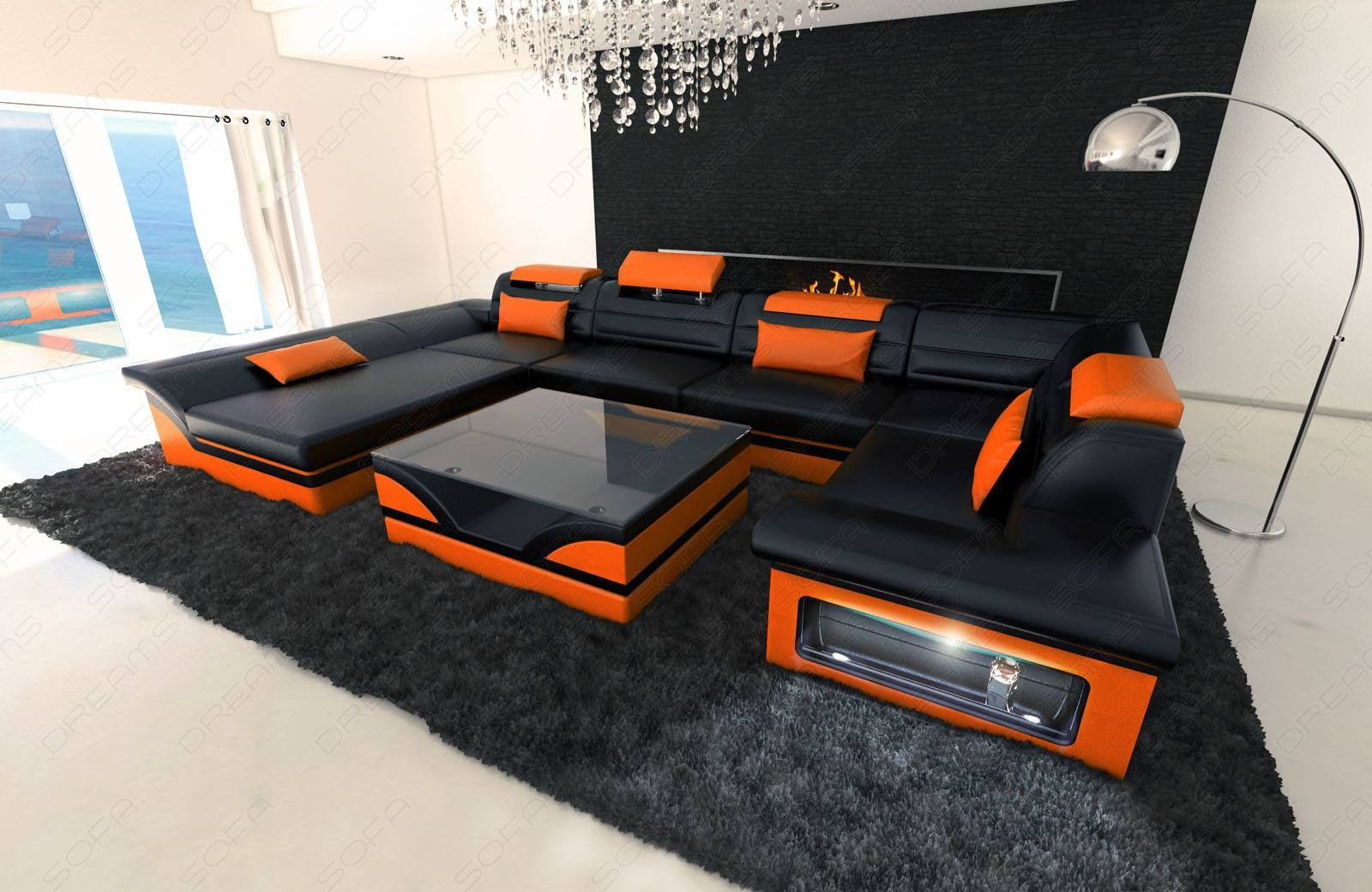 Big Sofa Xxl Schwarz Sofadreams Leather Sectional Atlanta Sofa With Led Lights Sofa Ideas