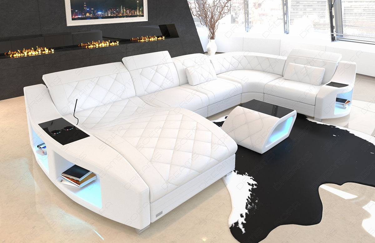 Ledercouch U Form Palm Beach Leather Sectional Sofa | Sofadreams