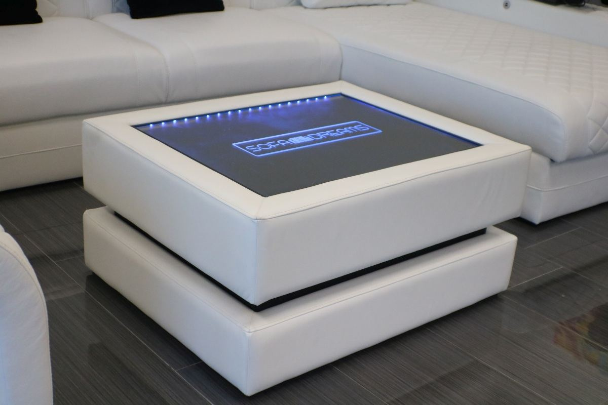 Heat Quadratic Leather Coffee Table Sofadreams