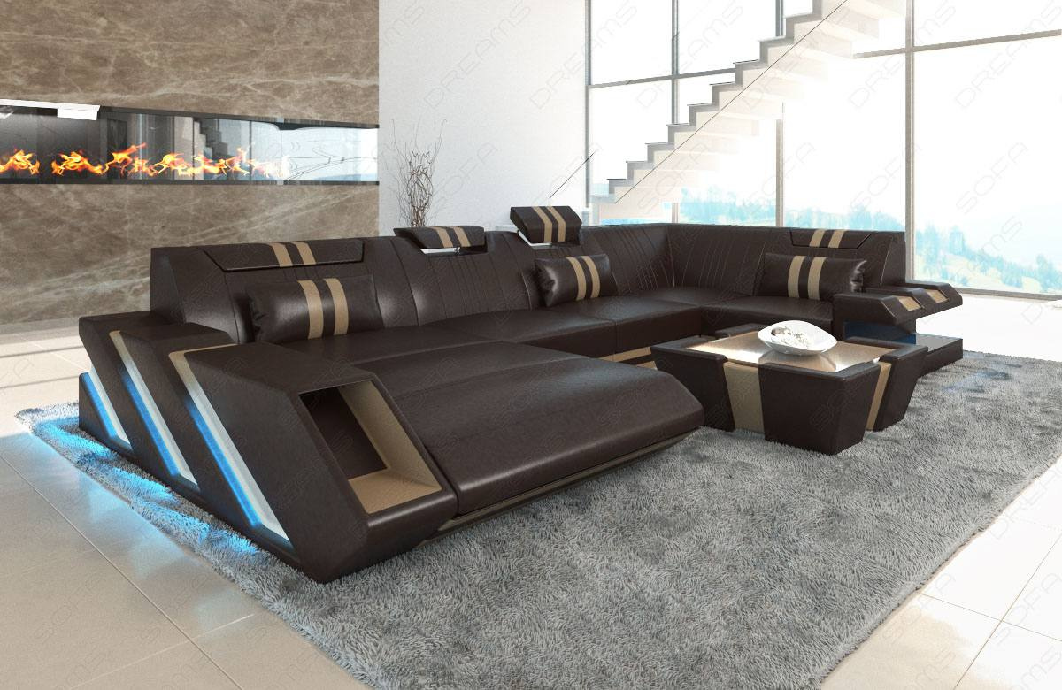 New Jersey U Shaped Leather Sofa Sofadreams
