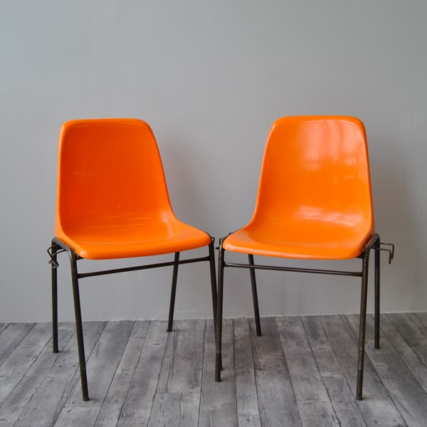 Meuble Tv Design Suedois Chaise Orange Vintage - Sofag