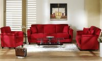 decorating ideas living room red leather sofa | Couch ...