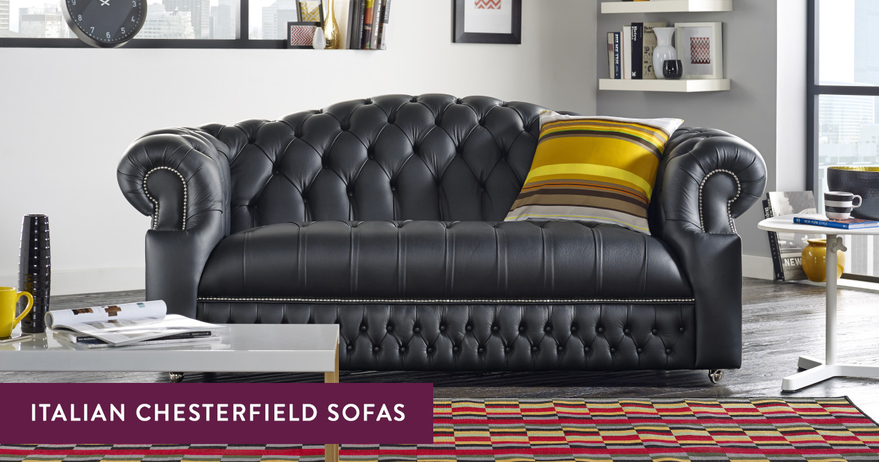 Italian Leather Chesterfield Sofas Handmade In The Uk Sofas By Saxon