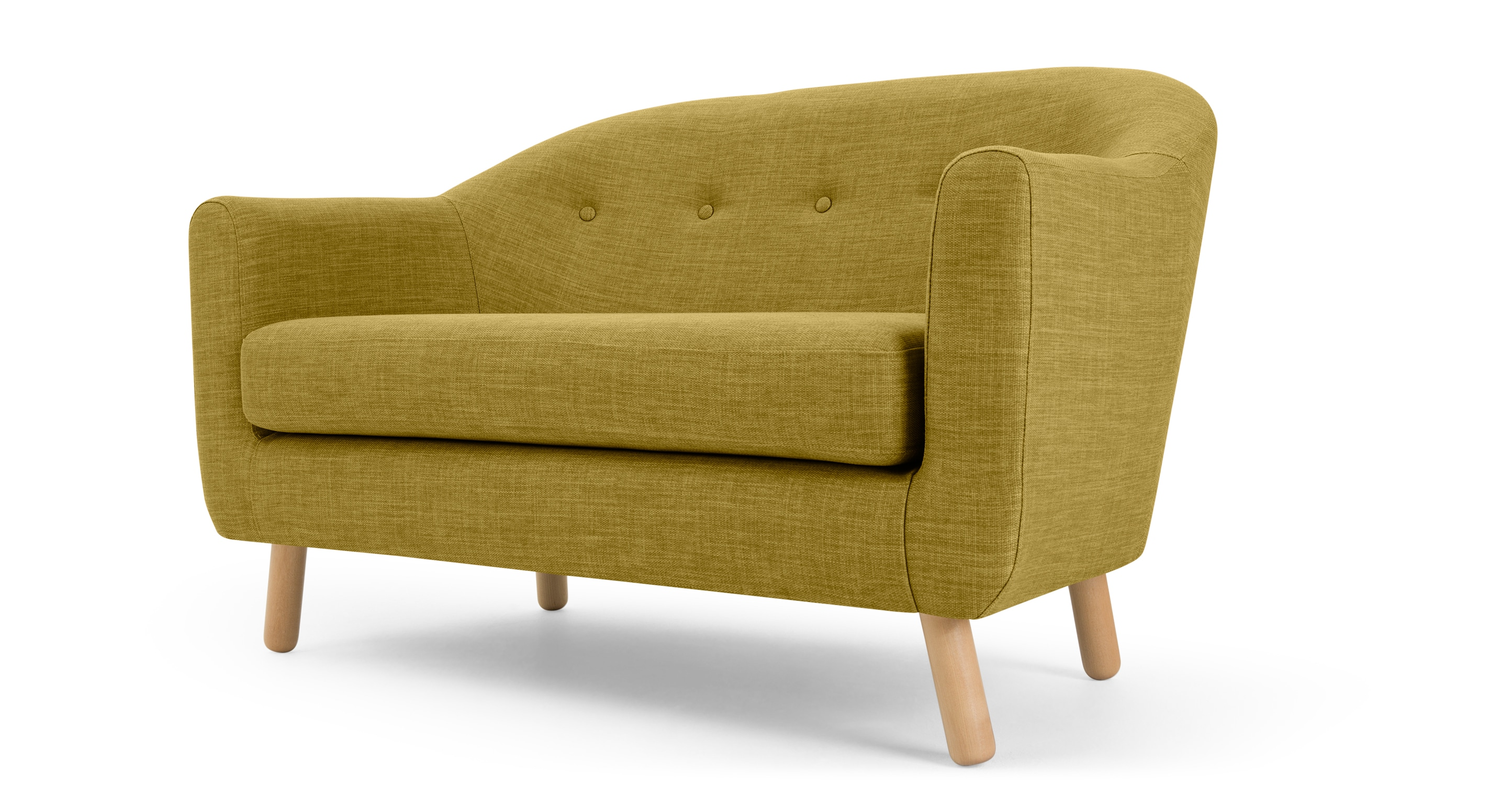 Made Quentin Sofa Lottie 2 Seat Sofa, Olive Green • Sofas Etc