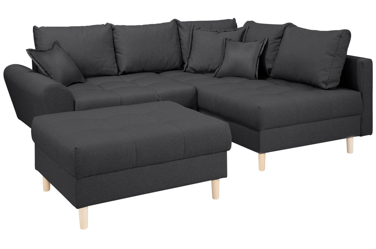 Sofa Mit Federkern Collection Ab Ecksofa Xl Rice Rechts Anthrazit Mit Federkern